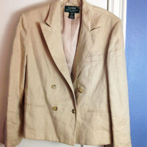 $250 Ralph Lauren 100% LINEN Jacket W Tags*  14 P